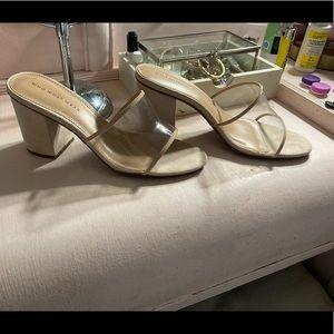 Danielle vinyl heeled mules